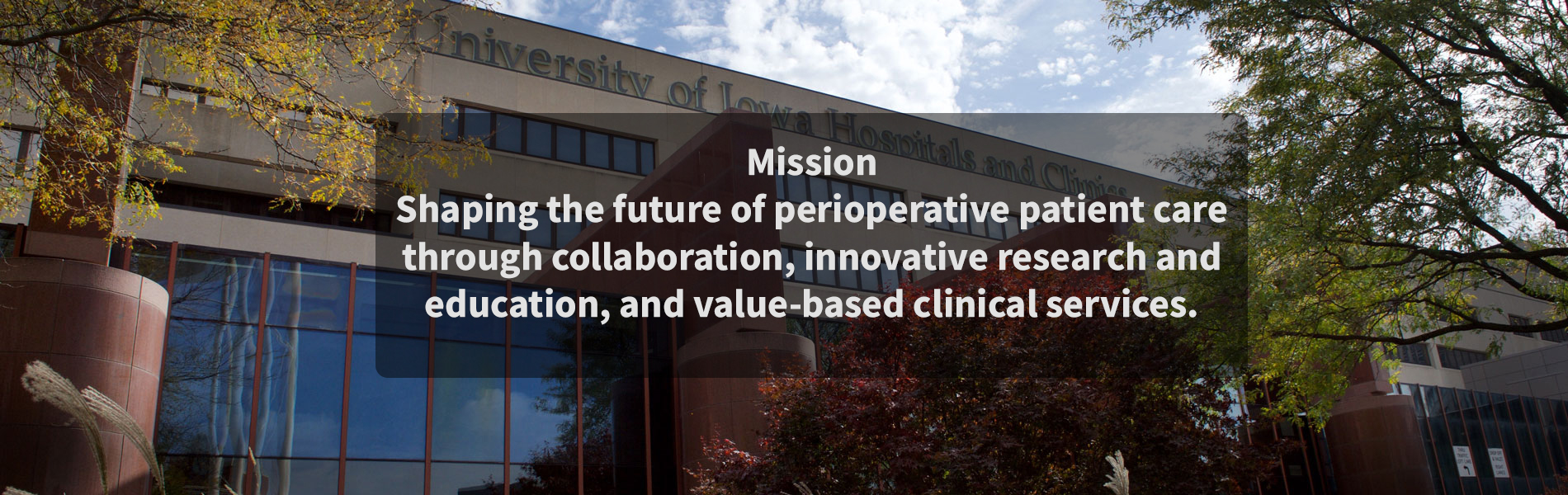 The Department of Anesthesia Mission Statement