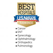 US News adult specialty rankings