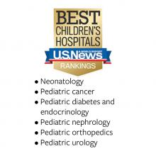 US News pediatric specialty rankings
