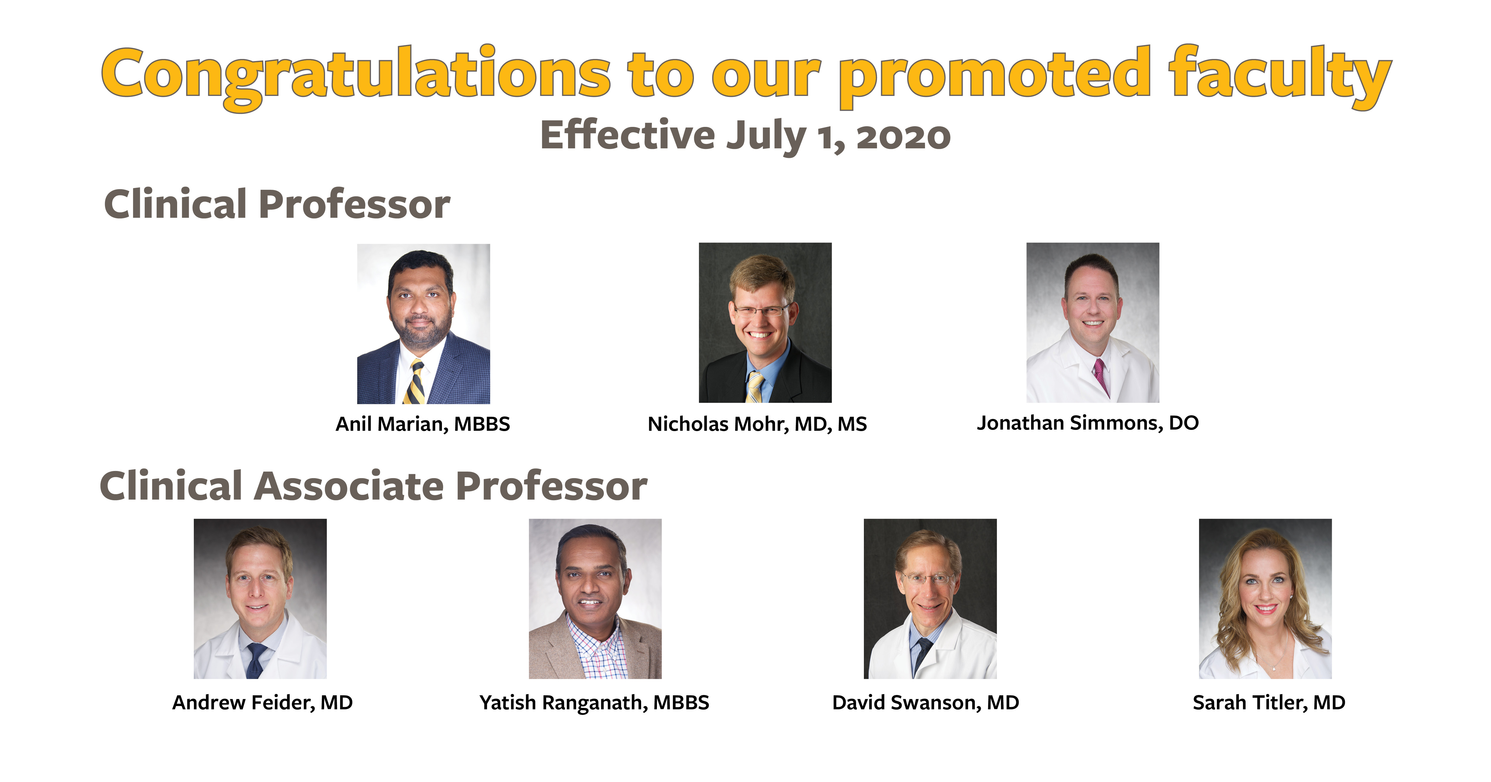 2020 Promoted Faculty