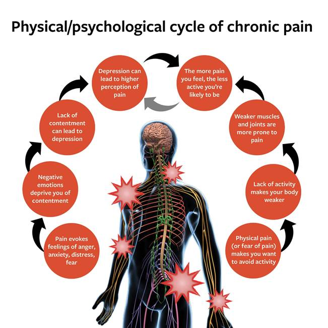 Physical and psychological cycles of chronic pain