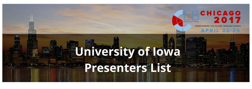 University of Iowa - Experimental Biology Presenters