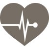 Icon of heart and EKG