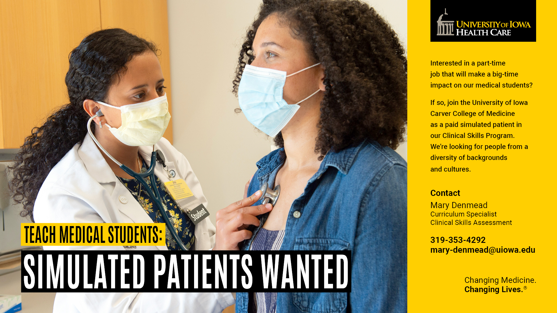 Teach Medical Students Simulated Patients Wanted Office Of Diversity Equity And Inclusion
