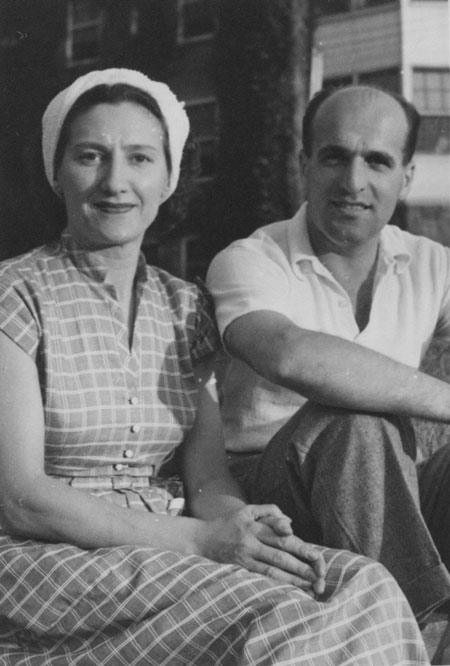 Fred and Otty, New York City, circa 1940