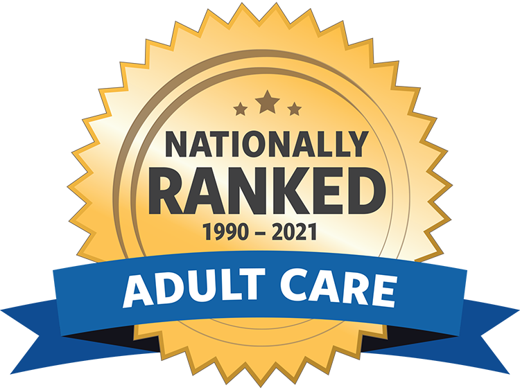 Nationally Ranked Adult Care 1990-2021