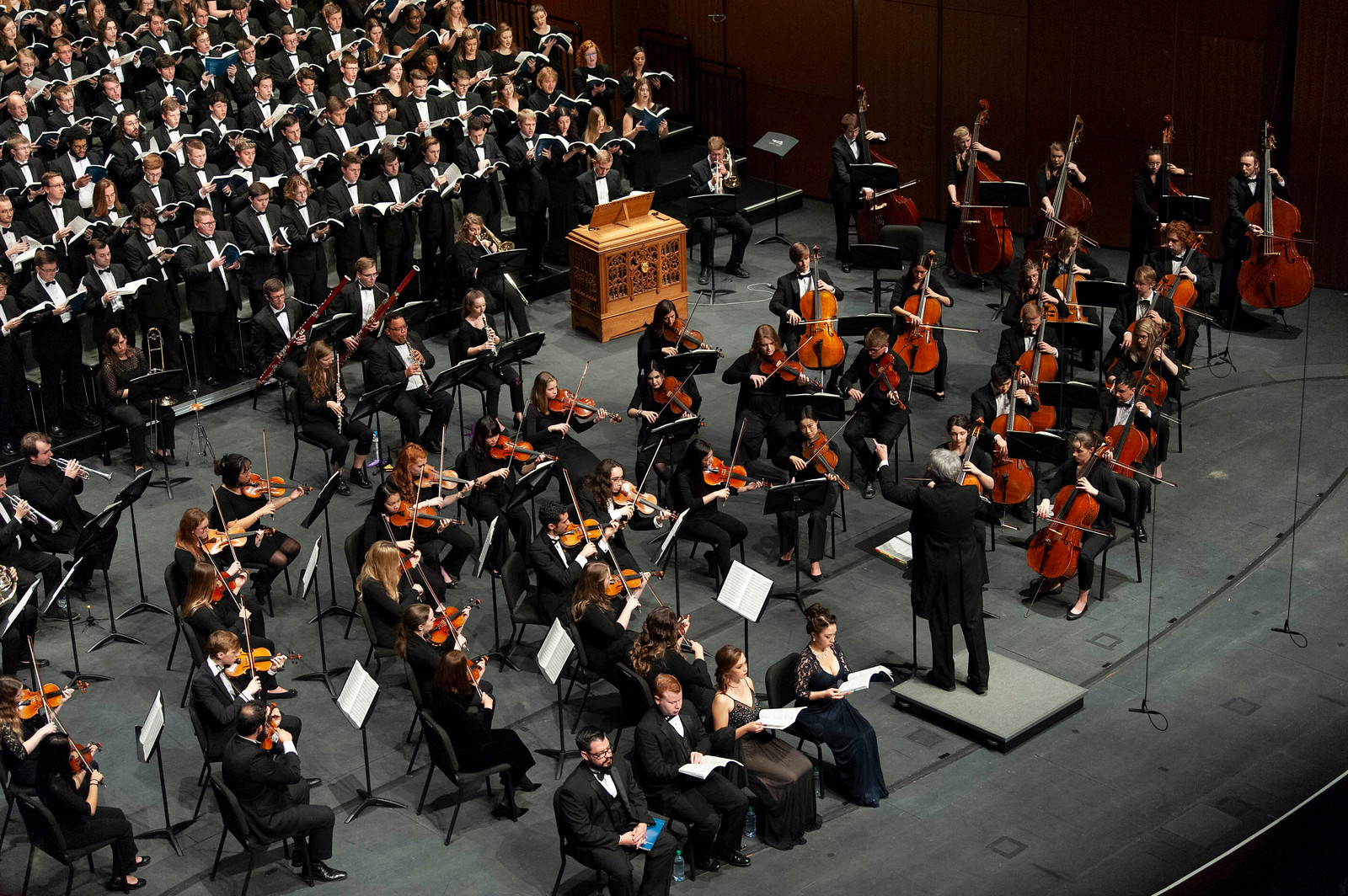 Orchestra and choir performance