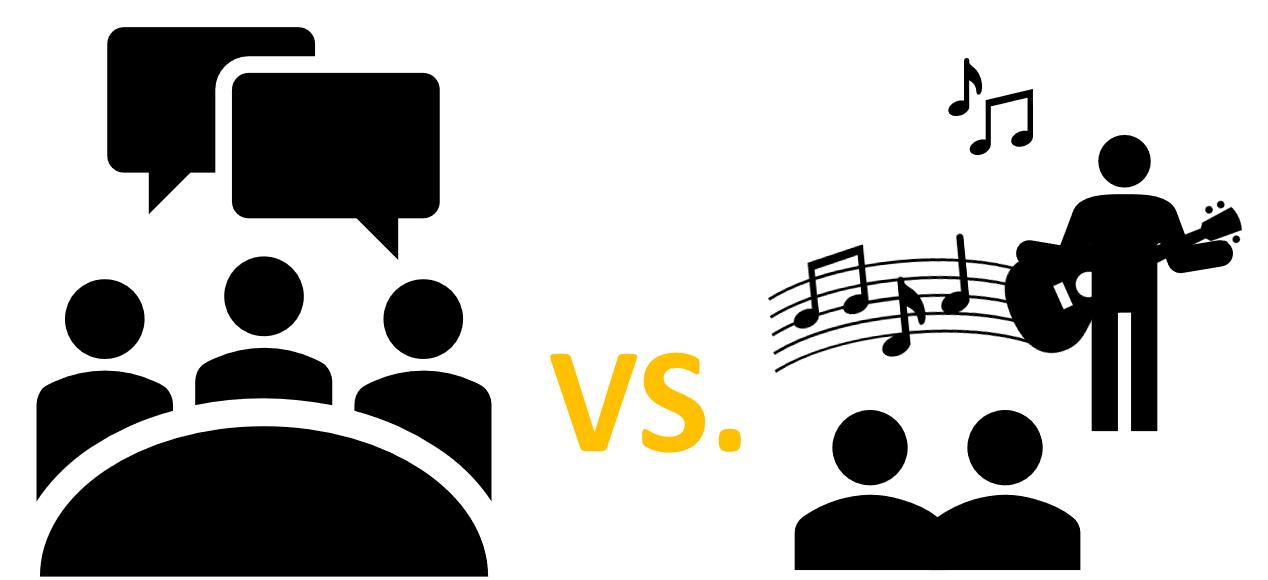 Speech versus Music