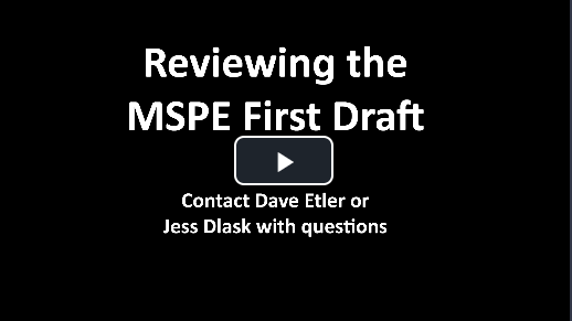 Vide with instructions for MSPE review