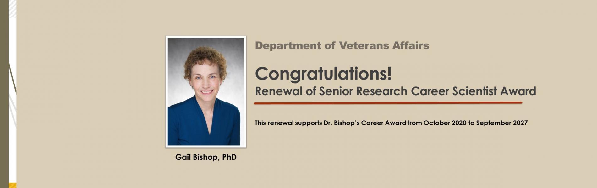 Gail Bishop senior research career scientist award