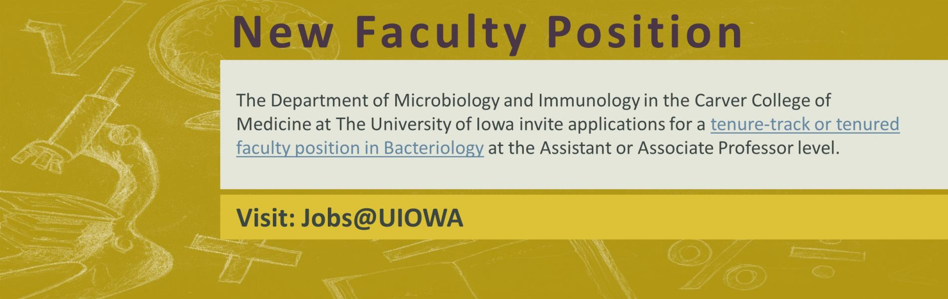 Faculty Bacteriology