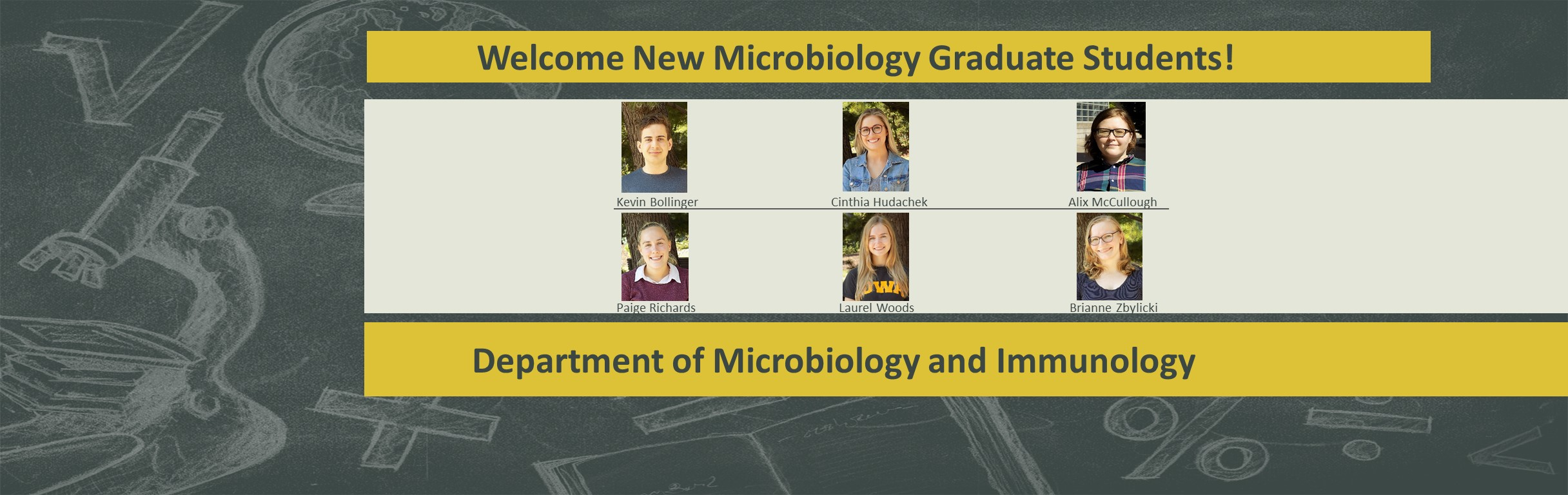 Welocme New Microbiology Students 20.21