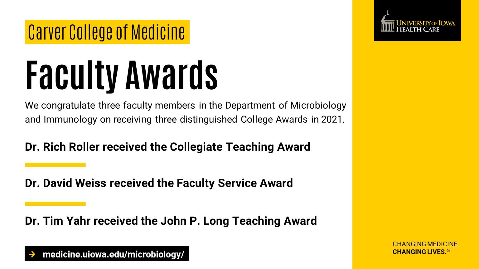 CCOM Faculty Awards 2021