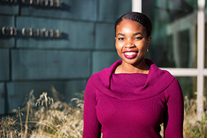 Photo of Sharon Idiga for 3 minute thesis contest