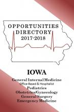 General Internal Medicine, Pediatrics, Obstetrics/Gynecology, General Surgery and Emergency Medicine Iowa Practice Opportunities Directory