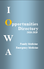 Family Medicine Emergency Medicine Opportunities Directory 2018-2019