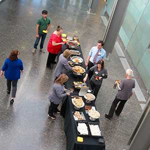 Research Day Buffet Line