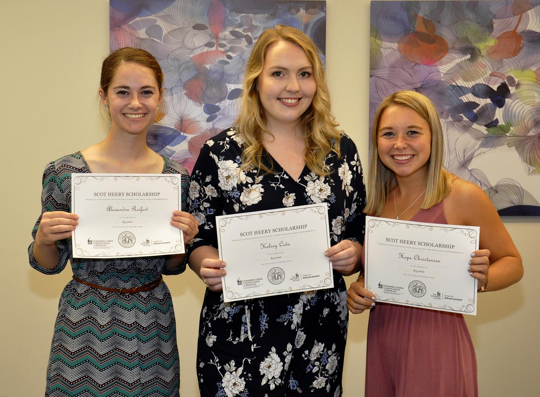 2019 Scot Heery Scholarship Award Recipients