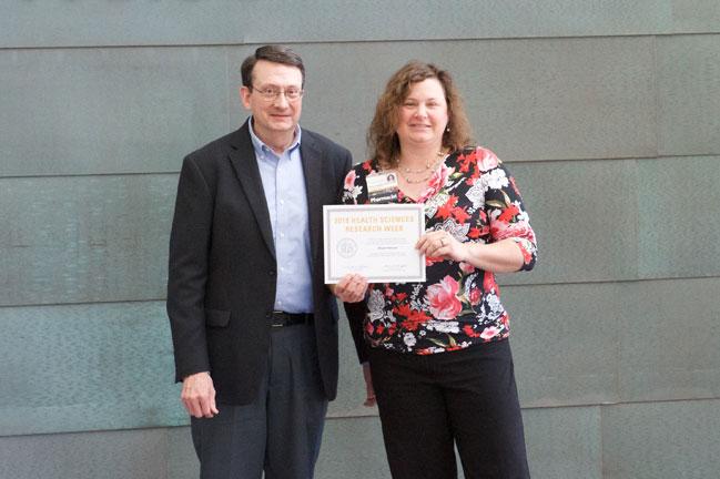 Allison Bernard receives award