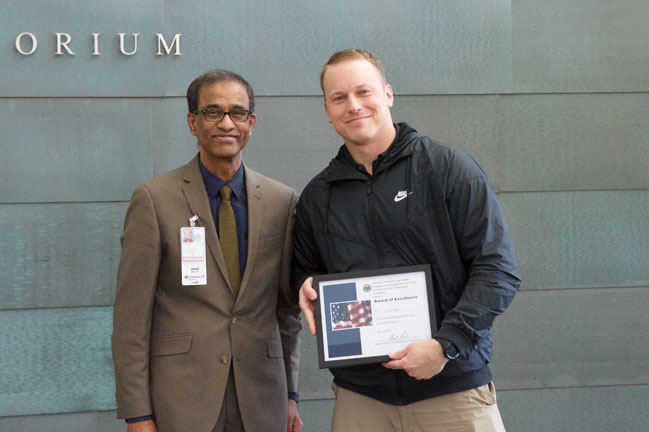 Corey Parlet receives award