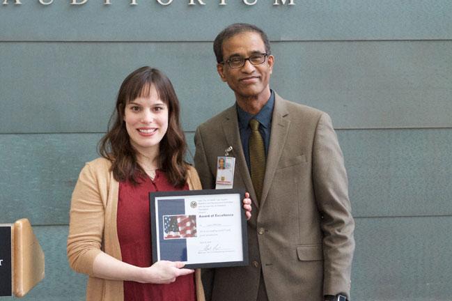 Laura Whitmore receives award