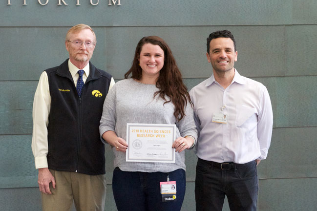 Lucy Evans receives award