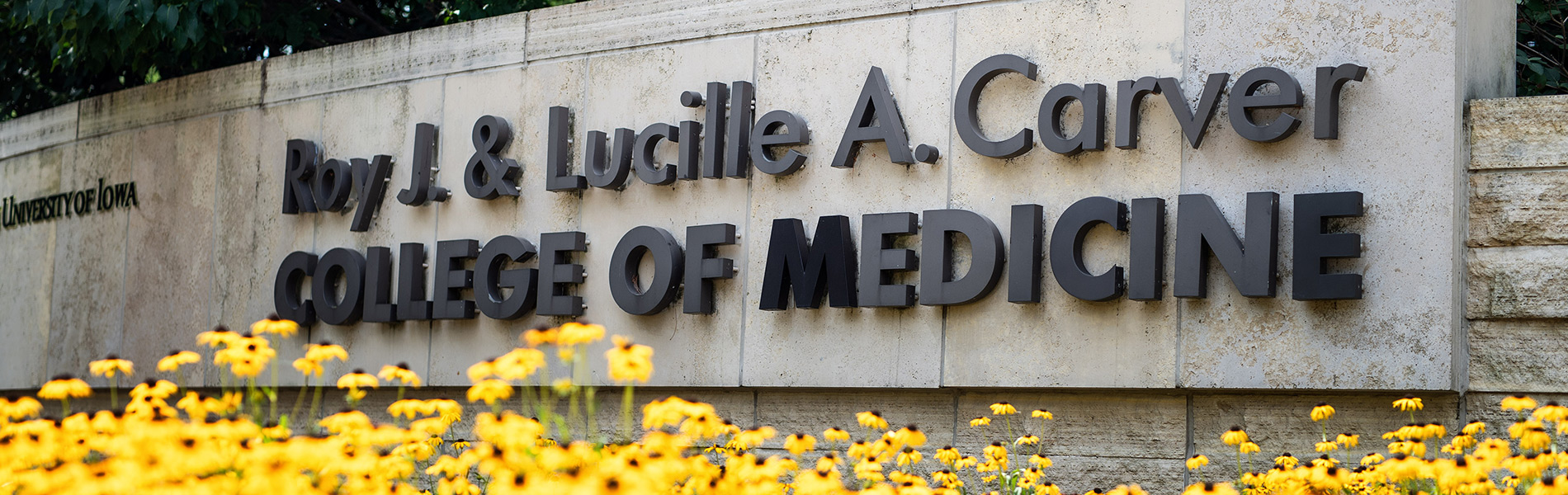 Monument sign for Carver College of Medicine
