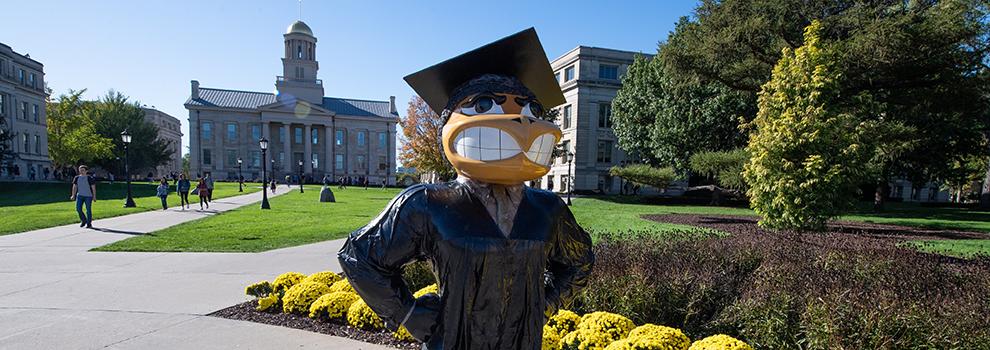 Graduate Herkey on Pentacrest