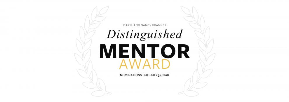 Distinguished Mentor Award 2018