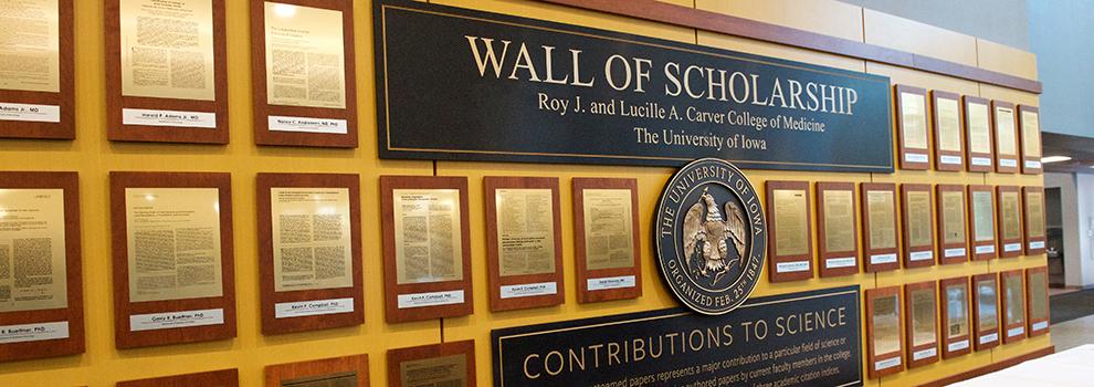 Wall of Scholarship Awards photo