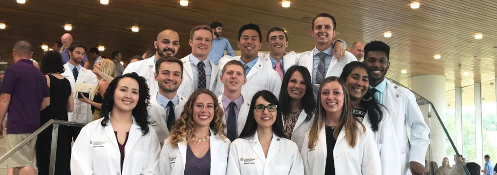 IMEI students at White Coat Ceremony