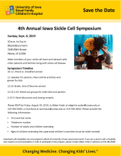 4th Annual Iowa Sickle Cell Symposium promotional image