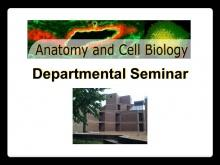 Anatomy & Cell Biology Seminar promotional image