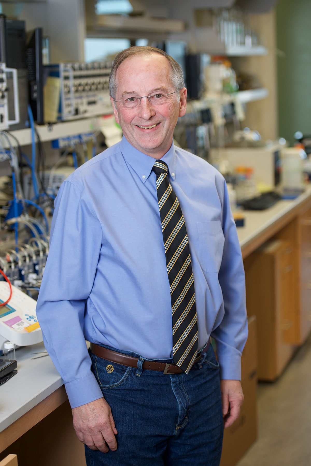 Michael Welsh in his lab