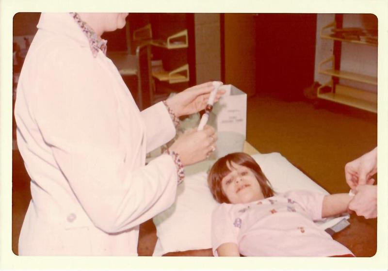 Muscatine Heart Study blood draw Feb. 1977