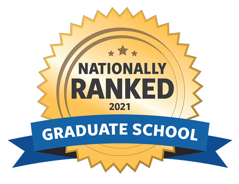 Nationally ranked graduate school badge for 2021