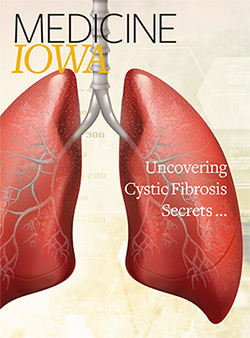 Medical illustration of lungs for Medicine Iowa magazine cover