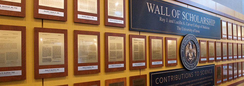 Wall recognizing faculty research