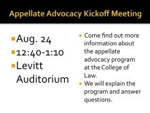 Appellate Advocacy I Kickoff Meeting