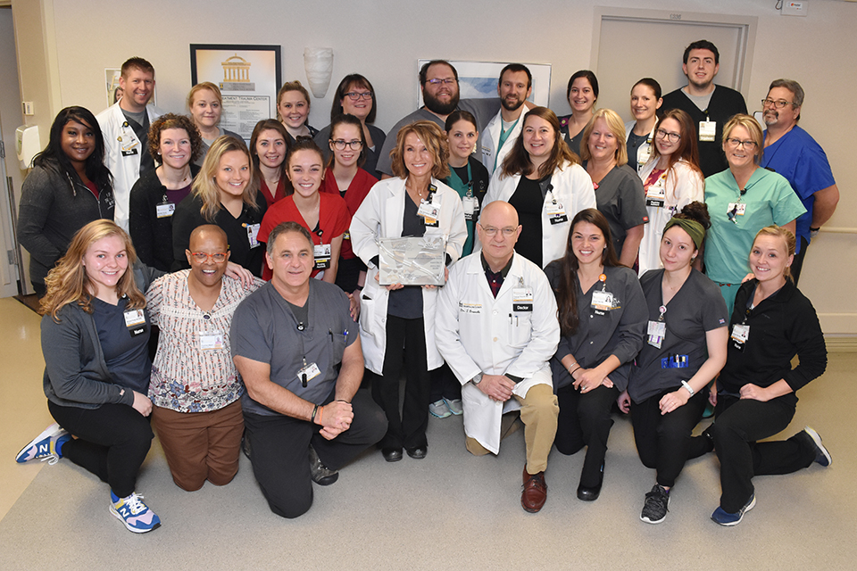 Burn Treatment Center Staff receive the Silver Beacon Award